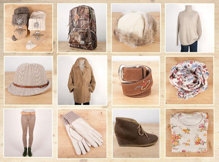 Per gli amanti dei toni naturali una selezione di prodotti di stile: calze in lana di Alpensocks, zaino in cordura di Herchel, cappello in marmotta di Inverni, pull di cachemire di Alyki, cappello di Inverni, montone rovesciato di Un Fleur, cintura di Guichardaz, sciarpa di Erfurt, pantaloni di J Brand, guanti Restelli, scarpe Clarks, felpa di Alternative.  Tutto disponibile da Guichardaz, www.guichardazcourmayeur.com