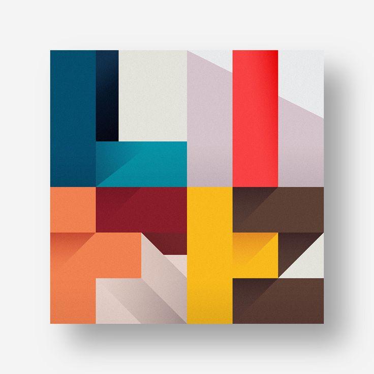 Geometric Type by Federico Landini #typography