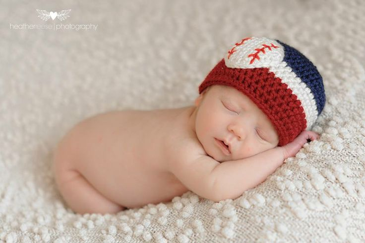 Red, White & Navy Blue Baseball Baby Beanie Hat  by Peaces by Cortney  https://www.etsy.com/listing/156232451/baby-baseball-hats-red-white-navy-blue Photo by Heather Reese Photography