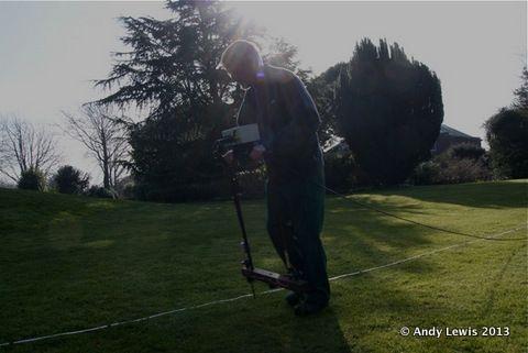 Alan carrying out a Geophysics survey