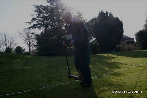 Alan carrying out a Geophysics survey