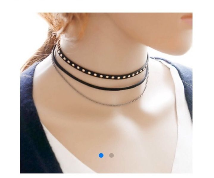 Free: Punk Style Mulatilayered Rivet Choker Necklace For Women - Black - Necklaces - Listia.com Auctions for Free Stuff