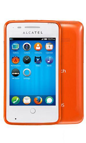 El Alcatel One Touch Fire es el primer smartphone de Alcatel en correr Firefox OS, basado enteramente en HTML5. Posee una pantalla de 3.5 pulgadas, cámara trasera de 3.2 megapixels, Wi-Fi, Bluetooth, 3G, procesador de 1GHz, 256MB de RAM, radio FM y ranura microSD para expansión de memoria.