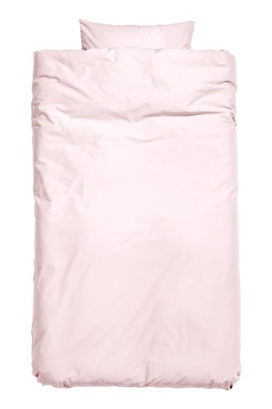 Bavlněná sada povlečení - Světle růžová - HOME   H&M CZ 1