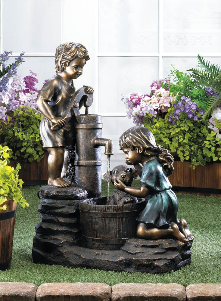 FREE Shipping - DOGGY WASH ELECTRIC WATER PUMP FOUNTAIN GARDEN CHILDREN & PUP~10017064 #Unbranded