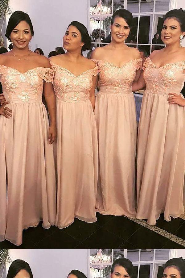a34e2142ecb Hot Sale Comfortable Appliques Bridesmaid Dresses