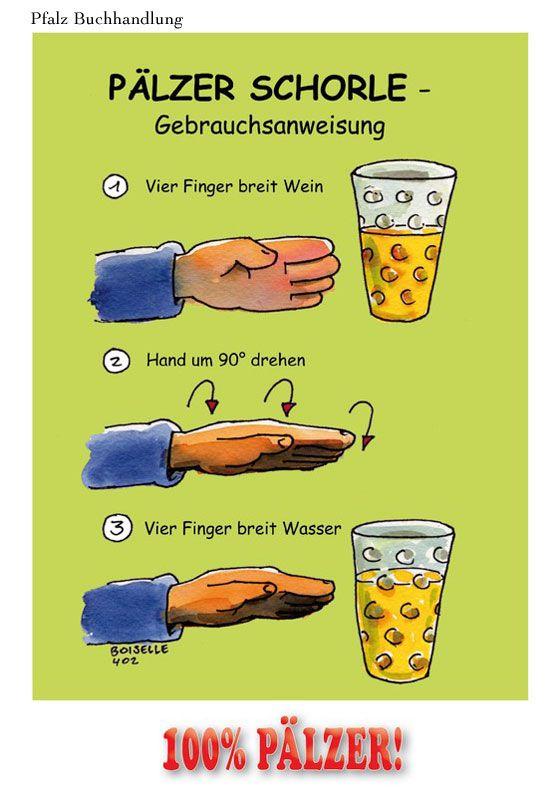 Pfälzer Schorle - Postkarte