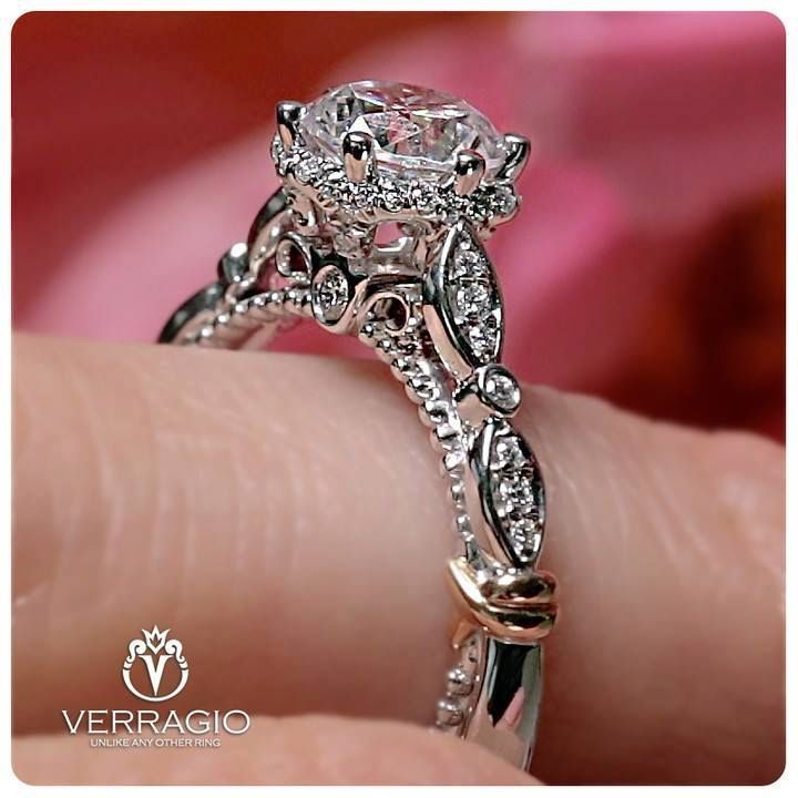 This Is Verragio S Parisian 141r Engagement Ring Inspired By Love Handcrafted Verragio Engagement Rings Engagement Ring Inspiration Designer Engagement Rings