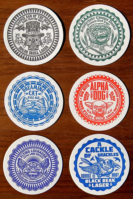 extraordinary inspiration drink coaster. A variety of six paper drink coasters featuring fictitious beer brands  designed 18 best business card ideas images on Pinterest Card