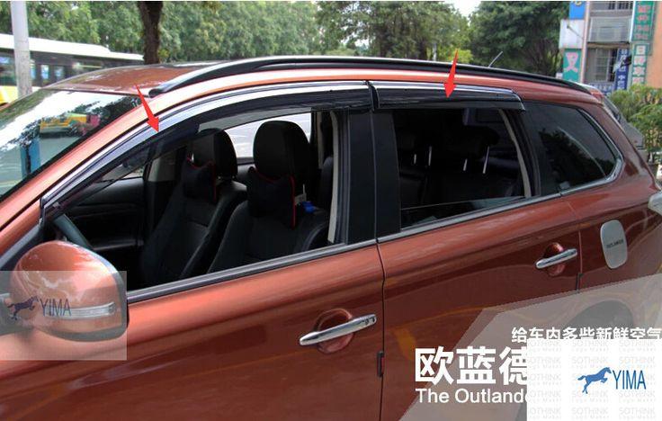 High Quality ! For Mitsubishi Outlander 2013 2014 Window Visors Awnings Wind Rain Deflector Visor Guard Vent 4 pcs / set