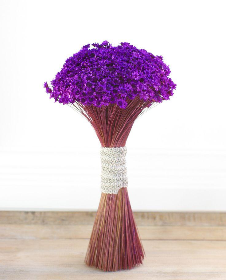 Purple Pop.  Dried and preserved purple starflower boquet.                                                                                                                                                                                 More