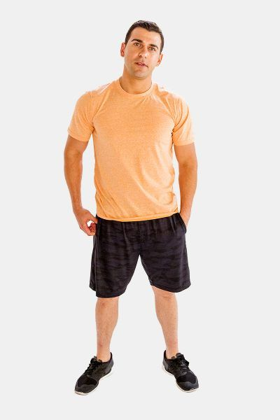 Buy This Easy-Stretch Brownish Peach Half-Sleeve #Fitness #T-Shirt for Men and other T-Shirts at Amazon.com.