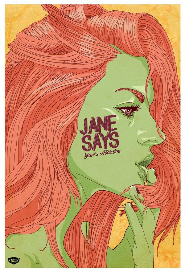 Jane says by Elian Tuya Villena, via Behance; green...