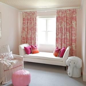Pink Toile Curtains, Transitional, nursery, Meredith Heron Design