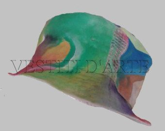 UNISEX HAND PAINTED clothing accessories hats and caps berets and tams wide brim custom fitted hats personalized cool hats womens girl hats