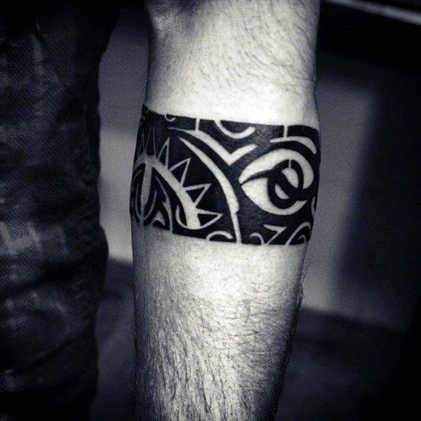Gentleman With Polynesian Armband Tattoo
