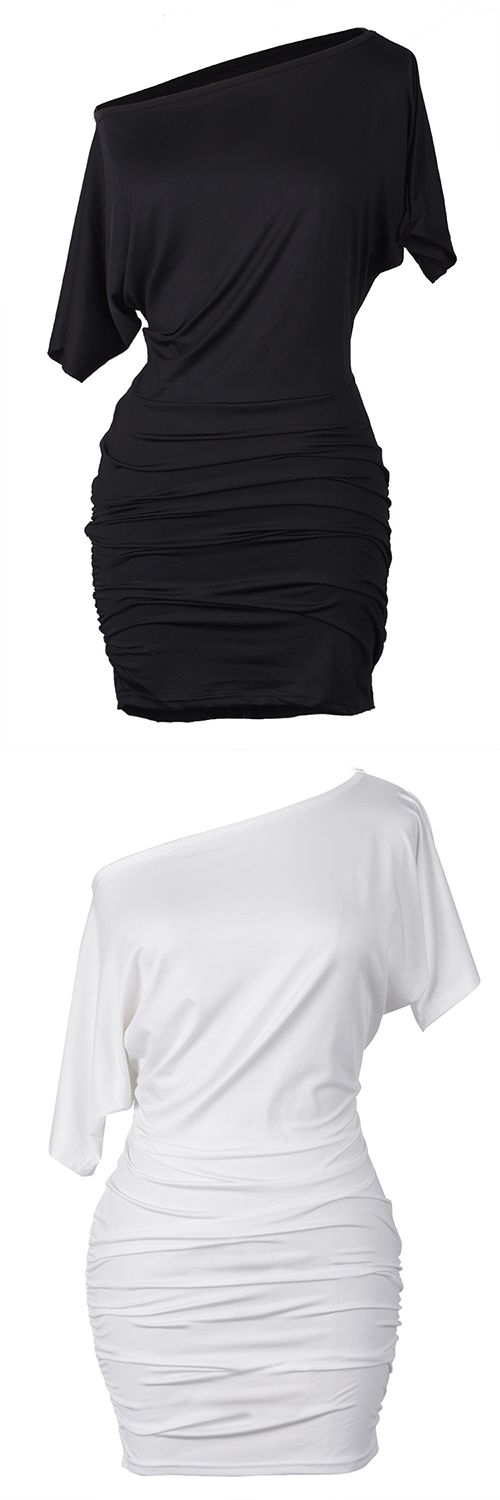 Classics to get with $17.99 Only&free shipping! This white/black cold shoulder bodycon dress gonna be your fave for occasional look! Go get it at Cupshe.com