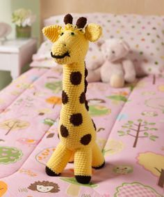 Love My Giraffe Toy, free pattern download from redheart.