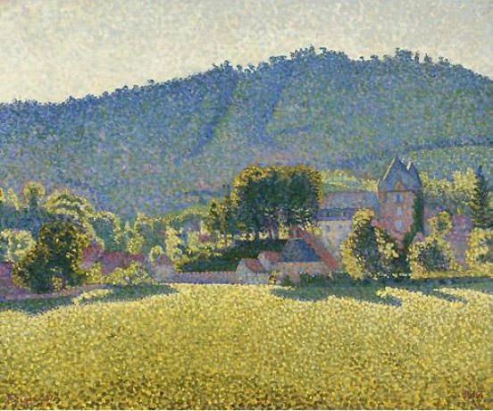 Comblat and the valley of the Cere by Paul Signac (1863-1935, France)