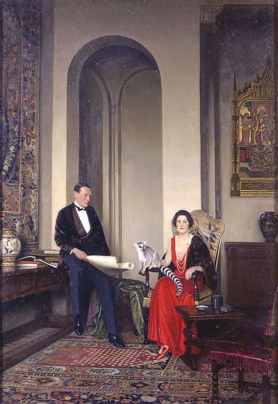 The Courtaulds with Pet Marmoset, Leonard Campbell Taylor (British,1874-1969)