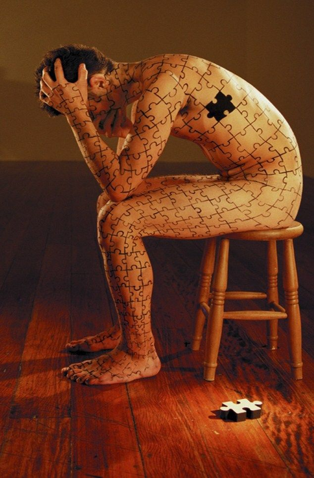 Puzzling body art.