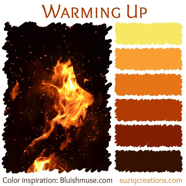 """<a href=""""http://www.suziqcreations.com/color-schemes-set-4/"""">Elemental Colors of Fire, Water, and Rain</a>"""