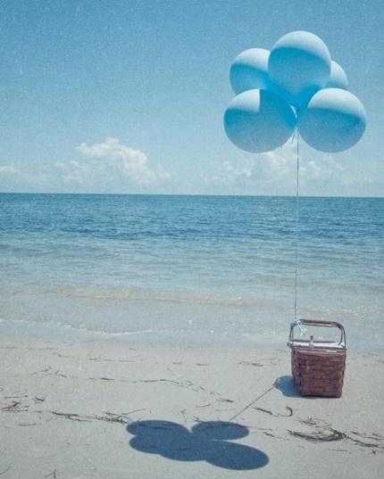 : At The Beaches, Blue Balloon, Beaches Summer Sea Water, Summer Picnics, Beaches Parties, Picnics Baskets, Deep Blue Sea, Beaches Picnics, The Sea