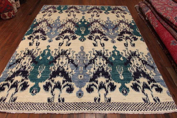 Large 251cms to 3 mtrs : 5164 IKAT RUG