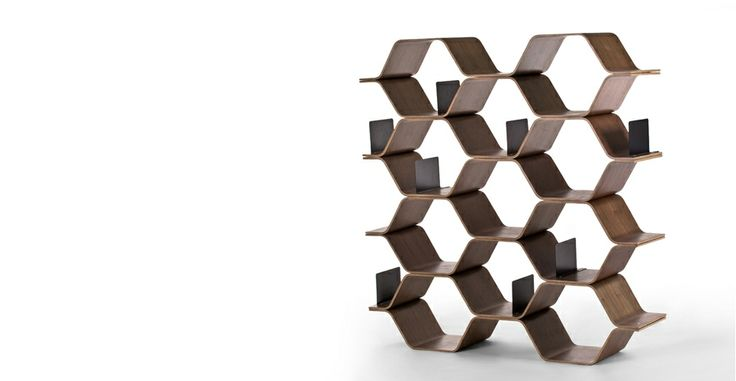 Polygon Shelving Unit in walnut   made.com