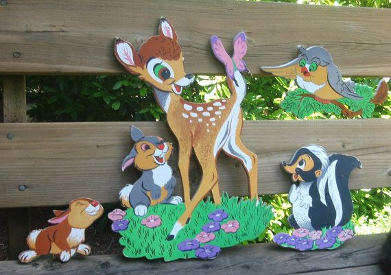 Bambi Wall Decor Vintage Disney Nursery Art Scene