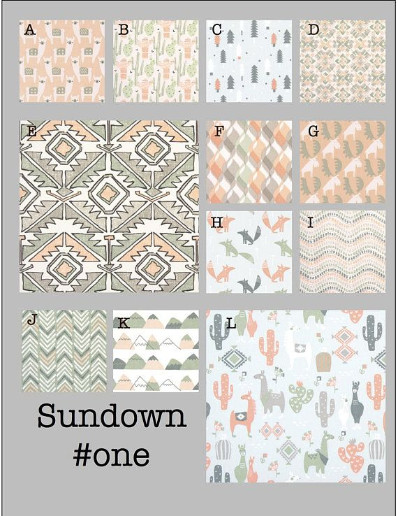 Custom Baby Crib Bedding- Design Your Own Modern Bedding-Dorm Bedding- Glider Cushions- Sundown #one