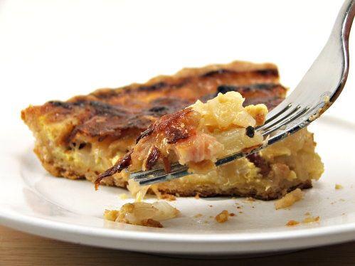 Onion, Apple, and Bacon Tart
