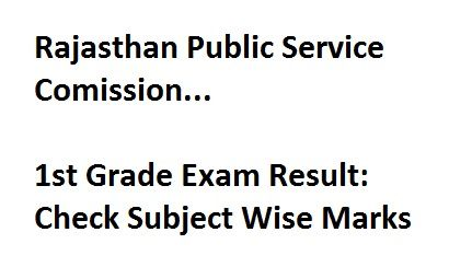 RPSC Held 1st Grade Teacher Exam in July 2016. Check Their Subject Wise…