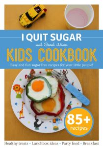 The I Quit Sugar Kids Cookbook has been designed with health-conscious mums and dads in mind. All the recipes contain minimal fructose, ensuring your kids enjoy yummy, nutrient-dense food without the totally unnecessary sugar dump. - See more at: http://www.iquitsugar.com/book/i-quit-sugar-kids-cookbook/#sthash.GzHwdKKf.dpuf