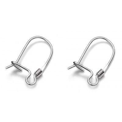 Closed ear wires - BZ4  Dimensions: 15,0x9,0mm Weight ~ 0.46g ( 1 pair ) Metal : sterling silver ( AG-925)  1 package = 1 pair
