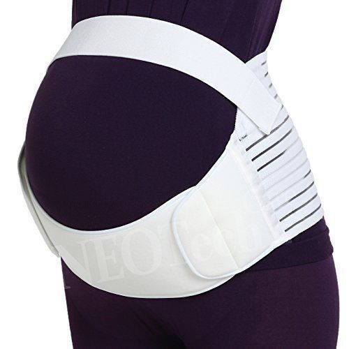 Pregnancy Support Waist Back Belly Brace Maternity Belt - White -Size: XXL #NEOtechCare