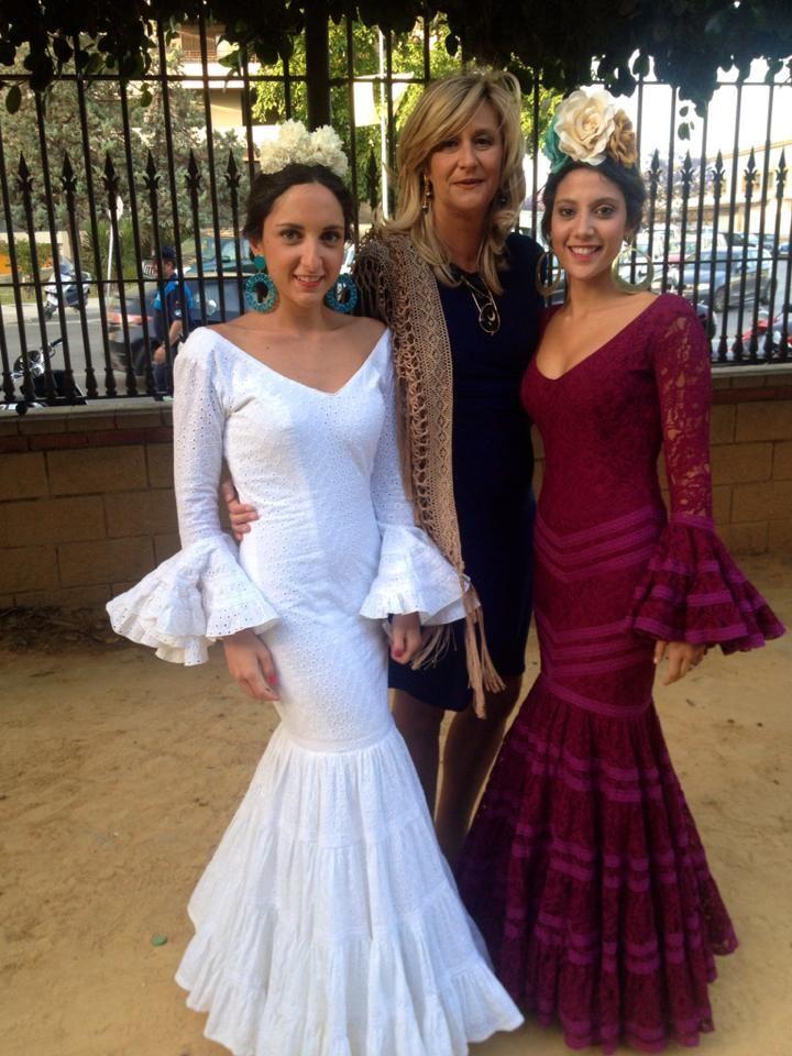 Image result for vestido flamenca burdeos