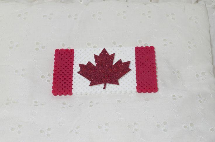 Canadian flag Perler bead magnet