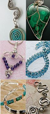 Free Wire Jewelry Patterns from Jewelry Making Daily:  Learn How to Make Wire Jewelry:  Designs for Making Wire Jewelry with 6 Wire Jewelry Making Techniques