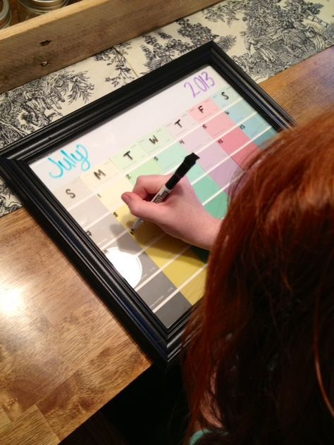 plum and pear: DIY Picture Frame Calendar