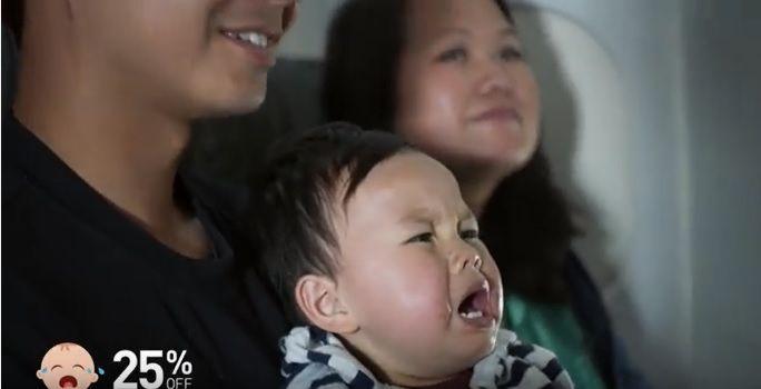 """""""泣いた子供""""の人数に応じて割引航空券をプレゼント!米LCCの「母の日」サプライズ   AdGang"""