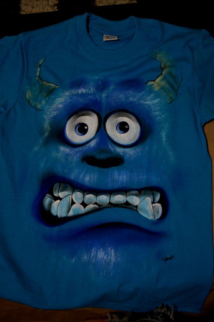 camiseta pintada a mano