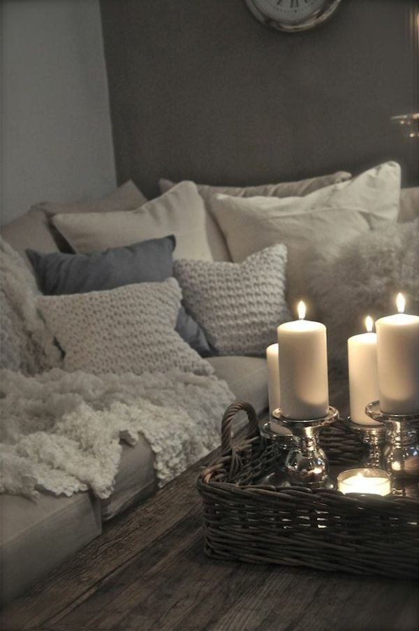 60 id es avec les bougies d coratives salons hygge and living rooms. Black Bedroom Furniture Sets. Home Design Ideas