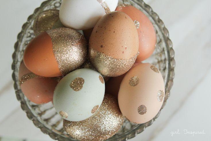 gorgeous Glitter Easter Eggs