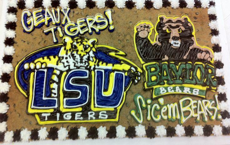 LSU and Baylor cake