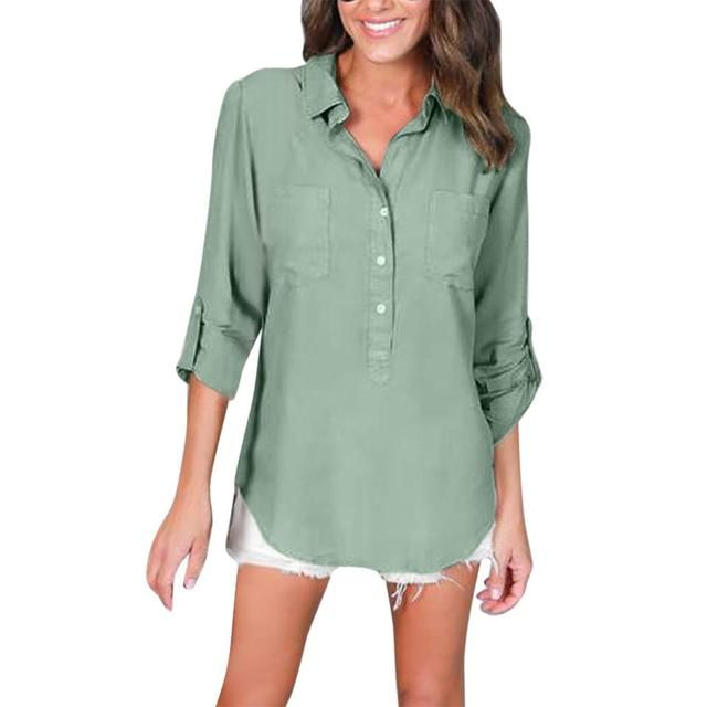 Going fast! Get your hands on Cotton Women Shirts Women Office Blouse 2017 Summer Autumn Long Sleeve Loose Casual Buttons Pockets Tops while you can! 🙌 http://thegayco.com/products/cotton-women-shirts-women-office-blouse-2017-summer-autumn-long-sleeve-loose-casual-buttons-pockets-tops?utm_campaign=crowdfire&utm_content=crowdfire&utm_medium=social&utm_source=pinterest