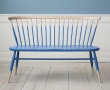 Ercol, Contemporary, United Kingdom - Loveseat', wooden bench.