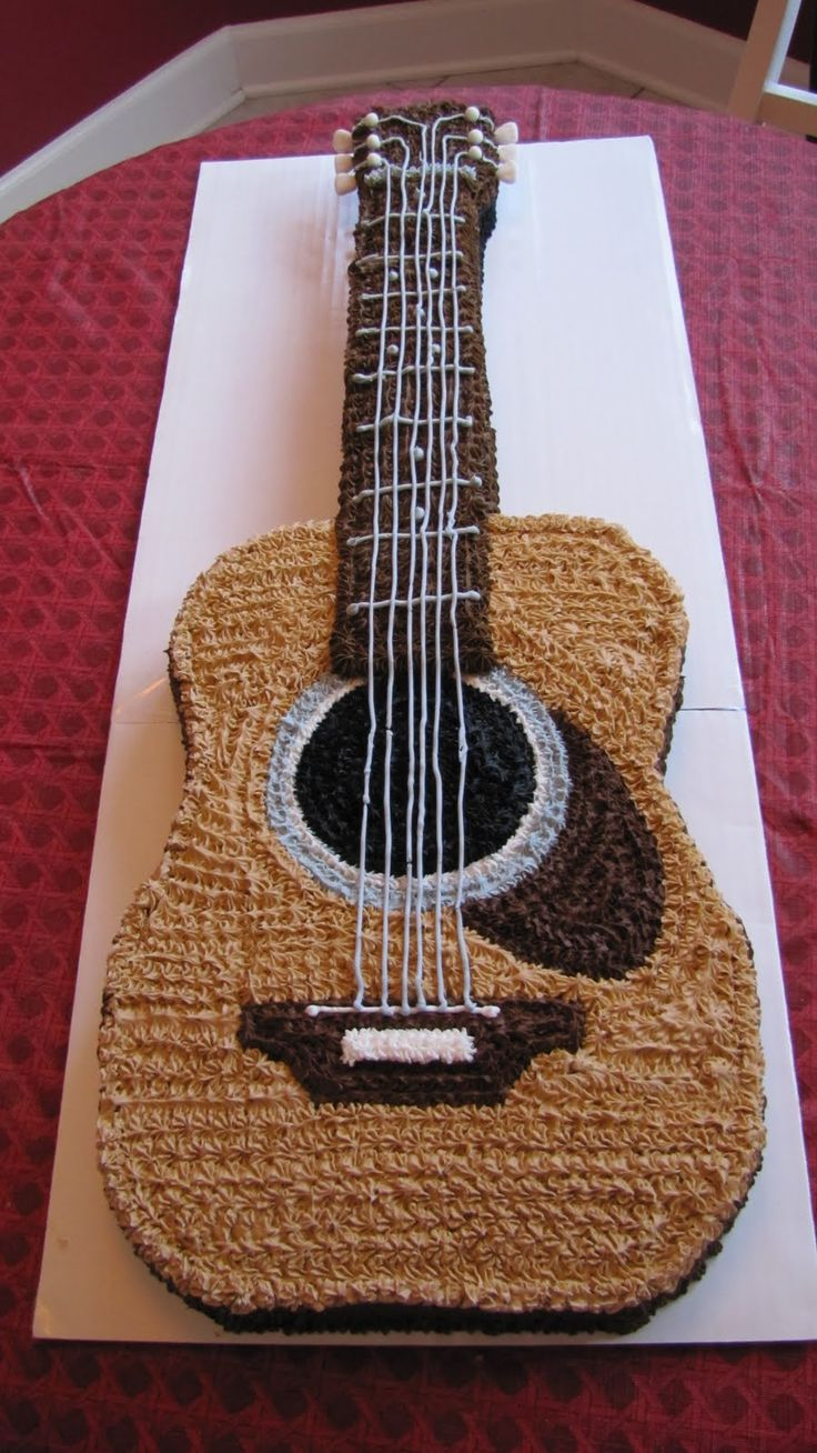 Best 20 Guitar Birthday Cakes Ideas On Pinterest Guitar