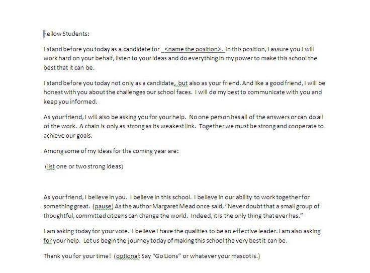 Student council essay