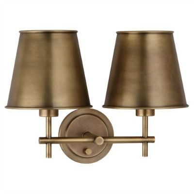 aiden double sconce brass